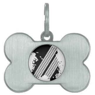 Tyre Tread Grunge Pet Tag