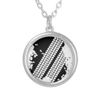 Tyre Tread Grunge Silver Plated Necklace