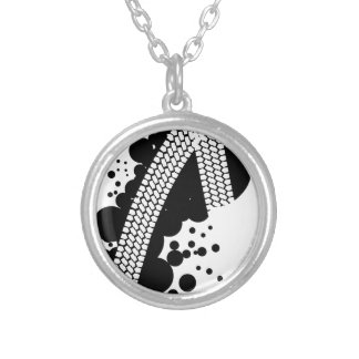 Tyre Tread Silver Plated Necklace