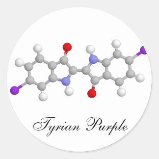 Tyrian purple round sticker