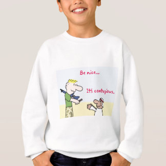 tyrmay iraq war arab be nice it's contagious candy sweatshirt
