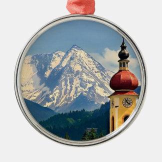 TYROL, AUSTRIA Silver-Colored ROUND ORNAMENT
