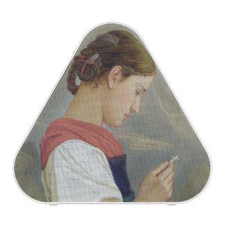 Tyrolean Girl Contemplating a Crucifix 1865 Bluetooth Speaker