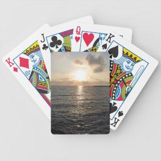 Tyrrhenian Sea, sunset Poker Deck
