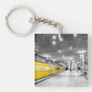 U Bahn Berlin Single-Sided Square Acrylic Keychain