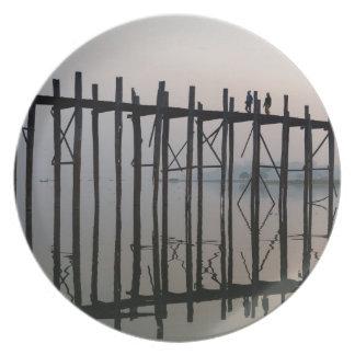 U Bein Bridge, Amarapura Plate