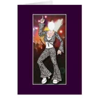 U Fill Photo Female Disco Dancer Card