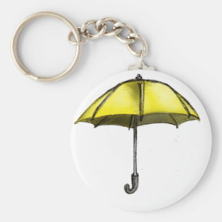 U is for Umbrella Basic Round Button Keychain