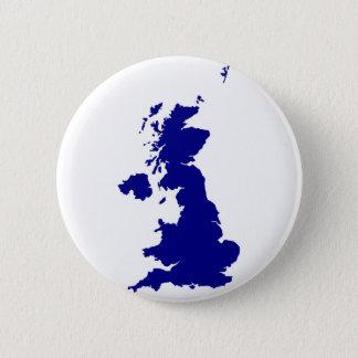 U.K. and Northern Ireland Silhouette 2 Inch Round Button
