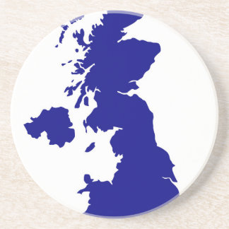 U.K. and Northern Ireland Silhouette Coaster