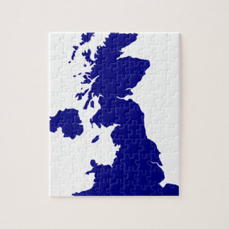 U.K. and Northern Ireland Silhouette Jigsaw Puzzle