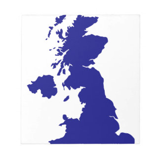 U.K. and Northern Ireland Silhouette Notepad