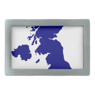 U.K. and Northern Ireland Silhouette Rectangular Belt Buckles
