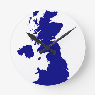 U.K. and Northern Ireland Silhouette Round Clock