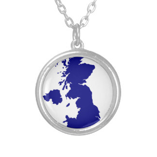 U.K. and Northern Ireland Silhouette Silver Plated Necklace