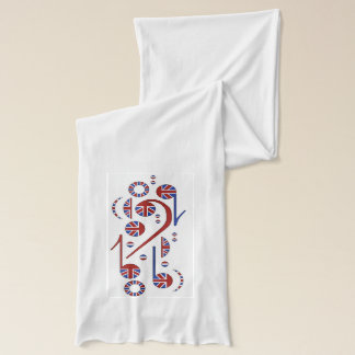 U.K. Flag Musical Notes Scarf