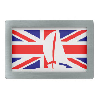 U.K. Flag United Kingdom Sailing Yacht Nautical Rectangular Belt Buckles