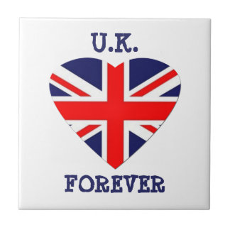 U.K.-Forever!-Union Jack Heart Tile