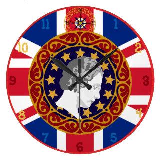 U.K. Queen Monogram Wall Clock