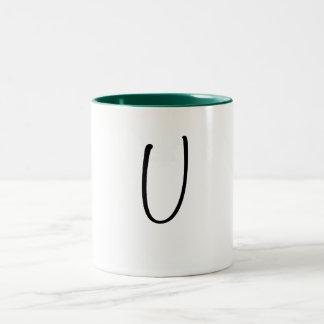 U Letter Mug