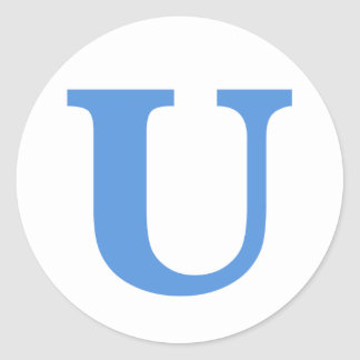 U Logo Sticker