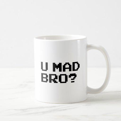 U MAD BRO? meme/chat/irc/4chan/troll/trolling Coffee Mugs