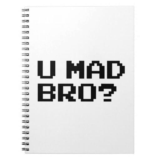 U MAD BRO? meme/chat/irc/4chan/troll/trolling Note Book
