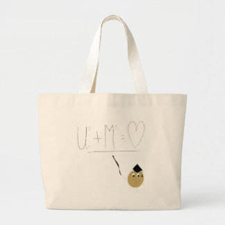 U + Me = love Canvas Bag