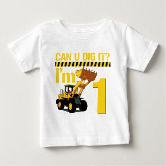 U peut-il le creuser ? J'ai 1 ans T-shirt Pour Bébé