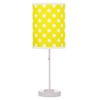 U-pick Background Colour/ Classic White Polka Dots Table Lamps