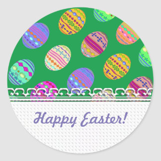 U-pick Color/ Bedazzled Easter Eggs w/ Rhinestones Round Sticker
