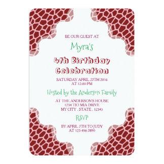 U pick Color/ Brown Giraffe Print in Mosaic Tile Card