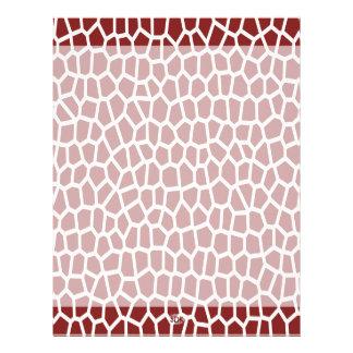 U pick Color/ Brown Giraffe Print in Mosaic Tile Custom Letterhead