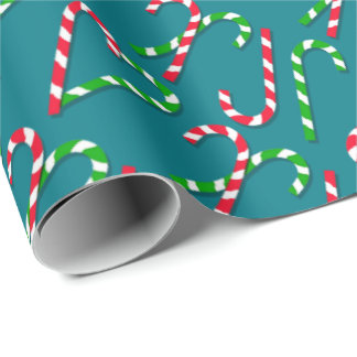U Pick Color/ Christmas Holiday Candy Canes Wrapping Paper