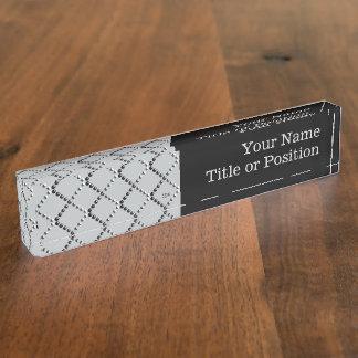 U pick Color/ Criss Crossing Chrome Metal St Name Plate