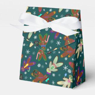 U-pick Color/ Gingerbread People & Snowflakes Favor Box