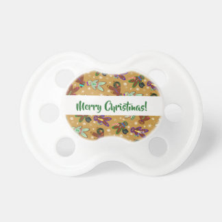 U-pick Color/ Gingerbread People & Snowflakes Pacifier