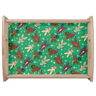 U-pick Color/ Gingerbread People & Snowflakes Serving Tray