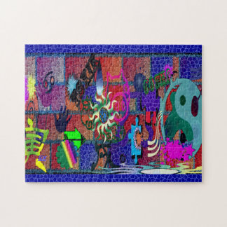 U-pick Color/ Graffiti Art on Brick Wall Puzzle