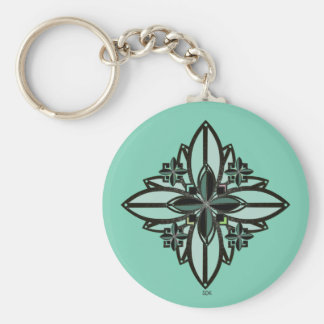 U-pick Color/ Iron Celtic Good Fortune Flower II Basic Round Button Keychain