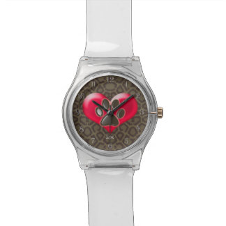 U-pick Color/Paws of Heart and Health Healing Watch