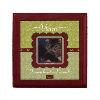 U Pick Color/Personalized Pet Memorial Gift Box