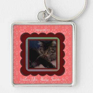 U Pick Color/Personalized Pet Memorial Keychains