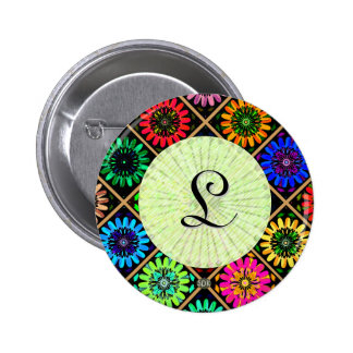 U Pick Color/ Radiant Scrapbook Flowers on Display 2 Inch Round Button