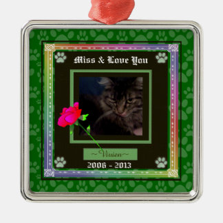 U Pick Color/Rainbow Personalized Pet Memorial Metal Ornament