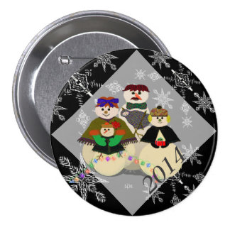 U Pick Color/ Snowman 3rd Baby's First Christmas 3 Inch Round Button