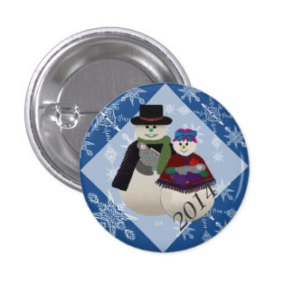 U Pick Color/ Snowman Twin Babys' First Christmas Pins