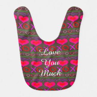 U Pick Color/ Valentine's Day Hugs and Kisses Bib