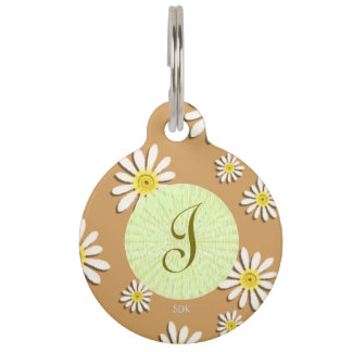 U-pick Color/ Whimsical Wildflower Daisy Sprinkles Pet Name Tags