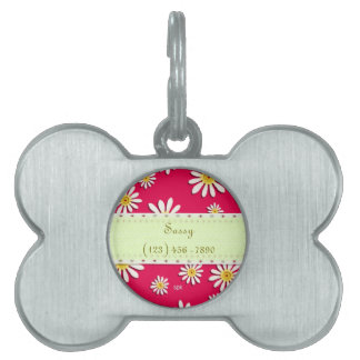 U-pick Color/ Whimsical Wildflower Daisy Sprinkles Pet Tag